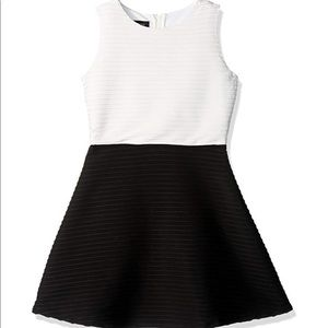 Girls' Big Picture and Flare Textured Dress